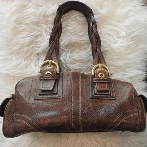 COACH Distressed Brown Leather Bag